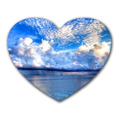 Maldives 1 Heart Mousepads by trendistuff