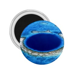 GREAT BLUE HOLE 2 2.25  Magnets by trendistuff