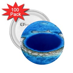 GREAT BLUE HOLE 2 2.25  Buttons (100 pack)  by trendistuff