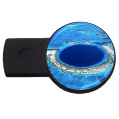 Great Blue Hole 2 Usb Flash Drive Round (2 Gb)  by trendistuff