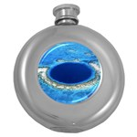 GREAT BLUE HOLE 2 Round Hip Flask (5 oz) Front