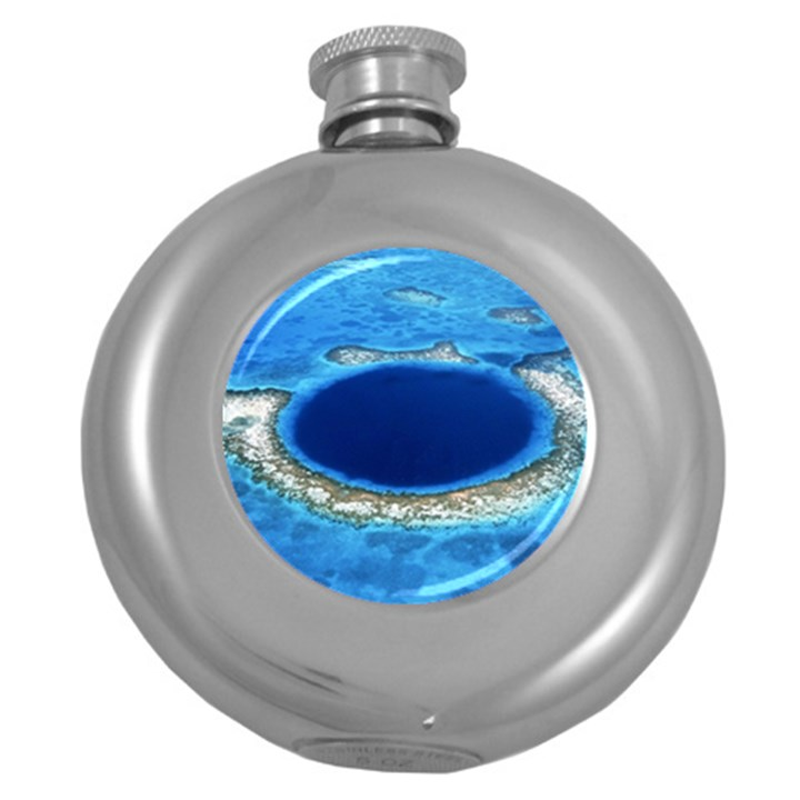 GREAT BLUE HOLE 2 Round Hip Flask (5 oz)