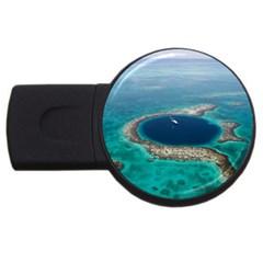 GREAT BLUE HOLE 1 USB Flash Drive Round (1 GB)  by trendistuff