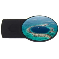 GREAT BLUE HOLE 1 USB Flash Drive Oval (1 GB)  by trendistuff
