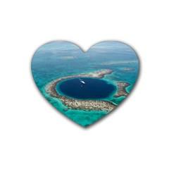 Great Blue Hole 1 Heart Coaster (4 Pack)  by trendistuff