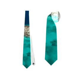 GREAT BLUE HOLE 1 Neckties (Two Side)  by trendistuff