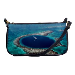 Great Blue Hole 1 Shoulder Clutch Bags by trendistuff