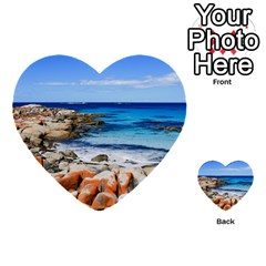 Bay Of Fires Multi Purpose Cards (heart)  by trendistuff