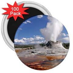 Yellowstone Castle 3  Magnets (100 Pack) by trendistuff