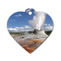 Yellowstone Castle Dog Tag Heart (two Sides) by trendistuff