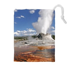Yellowstone Castle Drawstring Pouches (extra Large) by trendistuff