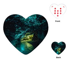 Waitomo Glowworm Playing Cards (heart)  by trendistuff