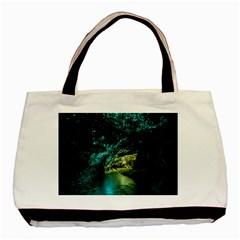 Waitomo Glowworm Basic Tote Bag  by trendistuff