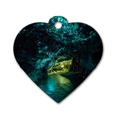 Waitomo Glowworm Dog Tag Heart (two Sides) by trendistuff