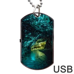 Waitomo Glowworm Dog Tag Usb Flash (two Sides)  by trendistuff