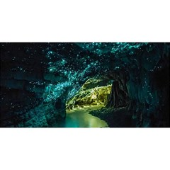 Waitomo Glowworm You Are Invited 3d Greeting Card (8x4)  by trendistuff