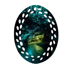 Waitomo Glowworm Ornament (oval Filigree)  by trendistuff