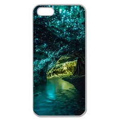 Waitomo Glowworm Apple Seamless Iphone 5 Case (clear) by trendistuff