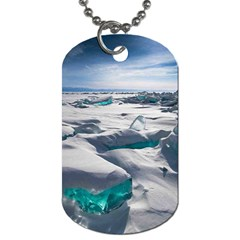 Turquoise Ice Dog Tag (two Sides) by trendistuff