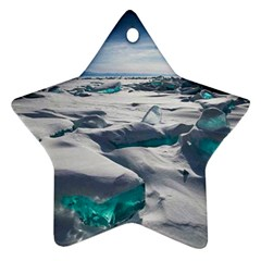 TURQUOISE ICE Star Ornament (Two Sides)  by trendistuff