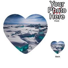 Turquoise Ice Multi Purpose Cards (heart)