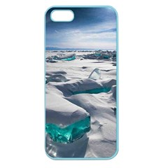 Turquoise Ice Apple Seamless Iphone 5 Case (color) by trendistuff