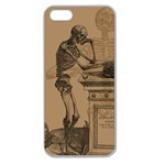 Vintage Skeletons Apple Seamless iPhone 5 Case (Clear)