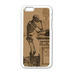 Vintage Skeletons Apple Iphone 6/6s White Enamel Case by waywardmuse