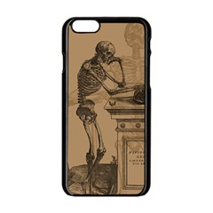 Vintage Skeletons Apple Iphone 6/6s Black Enamel Case