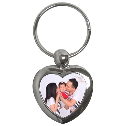 Keychain Heart Szewholefamily By Christy Lau   Key Chain (heart)   0p6gnsjhc6kt   Www Artscow Com Front