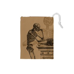 Vintage Skeletons Drawstring Pouches (small)