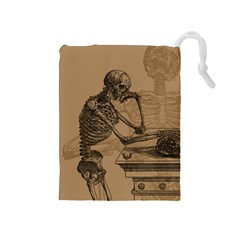 Vintage Skeletons Drawstring Pouches (medium)