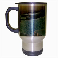 Travertine Pools Travel Mug (silver Gray) by trendistuff