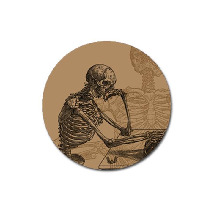 Vintage Skeletons Magnet 3  (Round)