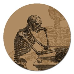 Vintage Skeletons Magnet 5  (round) by waywardmuse