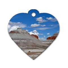 Petrified Forrest Tepees Dog Tag Heart (two Sides) by trendistuff