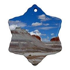 Petrified Forrest Tepees Ornament (snowflake)  by trendistuff