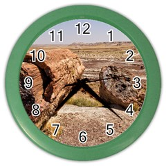 PETRIFIED DESERT Color Wall Clocks by trendistuff