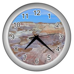 Painted Desert Wall Clocks (silver)  by trendistuff