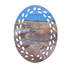 Painted Desert Oval Filigree Ornament (2 Side)  by trendistuff