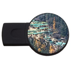 Huanglong Pools Usb Flash Drive Round (2 Gb)  by trendistuff
