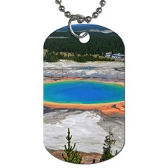 Grand Prismatic Dog Tag (one Side) by trendistuff