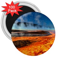 Fire River 3  Magnets (100 Pack) by trendistuff