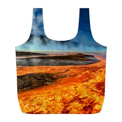 Fire River Full Print Recycle Bags (l)  by trendistuff