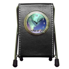 Aurora Borealis Pen Holder Desk Clocks by trendistuff