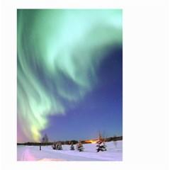 Aurora Borealis Small Garden Flag (two Sides) by trendistuff
