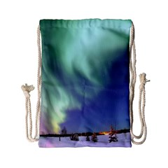 Aurora Borealis Drawstring Bag (small) by trendistuff