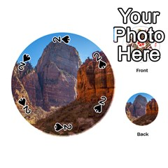 Zion National Park Playing Cards 54 (round)  by trendistuff