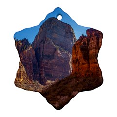 Zion National Park Snowflake Ornament (2 Side) by trendistuff