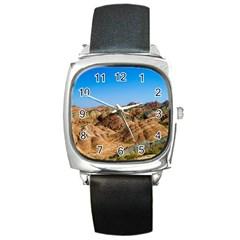 Zhangye Danxia Square Metal Watches by trendistuff